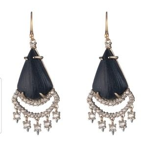 Alexis Bittar black lucite chandelier earrings
